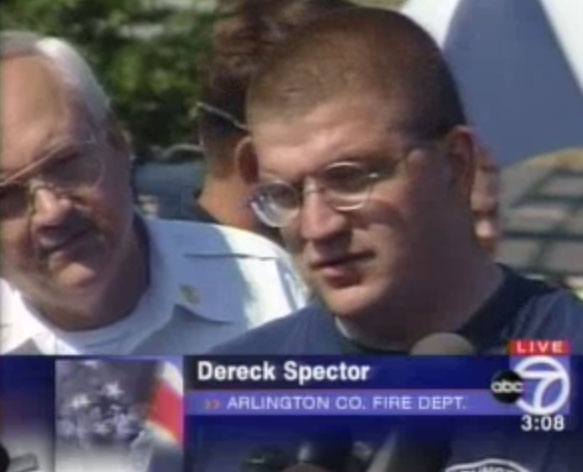 Fire department first responder Derek Spector discusses evacuations