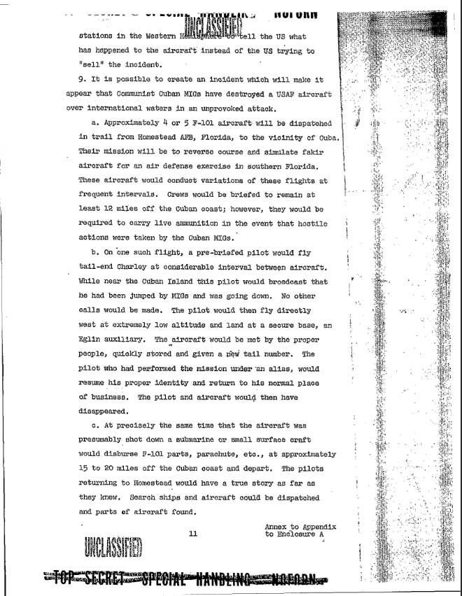 Operation Northwoods - Section 9
